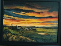 Print Title: Sunset On the Farm