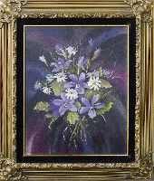 Print Title: Violets and daisies
