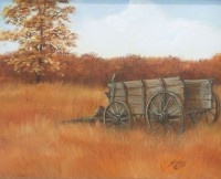 Print Title: The Old Wagon