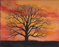 Print Title: Sunset Silhouette