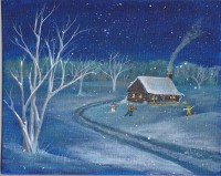 Print Title: Home in the Snow